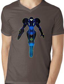Samus and Metroid Retro Mens V-Neck T-Shirt