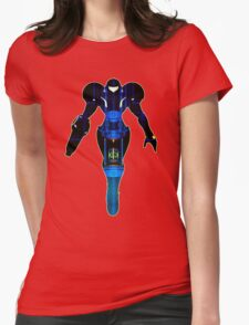 Samus and Metroid Retro Womens Fitted T-Shirt