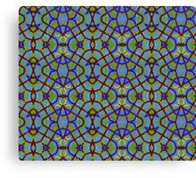 Blue Green Abstract Design Pattern Canvas Print