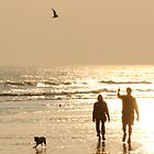 sunset beach walk by Steve