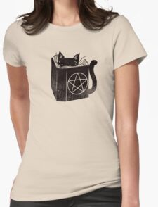 witchcraft cat Womens Fitted T-Shirt