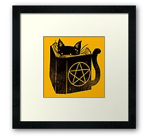 witchcraft cat Framed Print