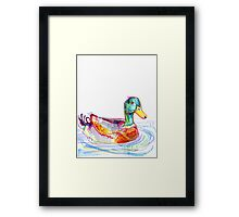 Duck drawing - 2011 Framed Print