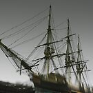 Ghost Ship of Salem, Massachusetts by Steve Borichevsky