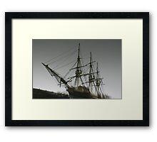 Ghost Ship of Salem, Massachusetts Framed Print