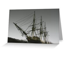 Ghost Ship of Salem, Massachusetts Greeting Card