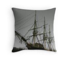 Ghost Ship of Salem, Massachusetts Throw Pillow