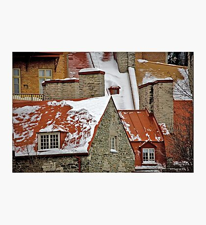 Angular Rooftops, Old Quebec Photographic Print