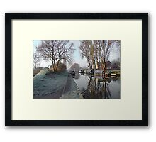 Boats and Trees Framed Print