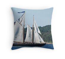 Schooner Virginia on Gloucester Harbor Throw Pillow