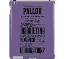 A Disquieting Metamorphosis iPad Case/Skin