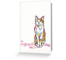 Cat drawing - 2011 Greeting Card