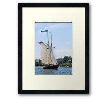 Schooner Virginia in Inner Gloucester Harbor Framed Print