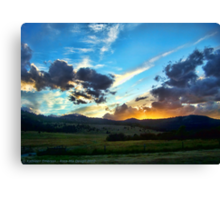 Sunset on the Rez (Montana, USA) Canvas Print