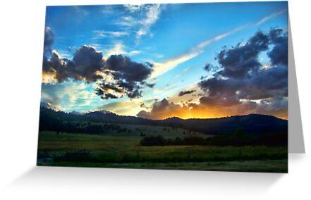 Sunset on the Rez (Montana, USA) by rocamiadesign