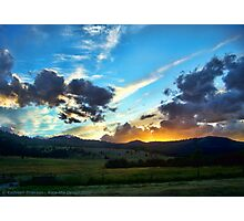 Sunset on the Rez (Montana, USA) Photographic Print