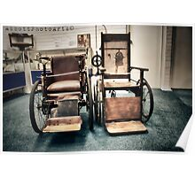 Old Wheelchairs Poster