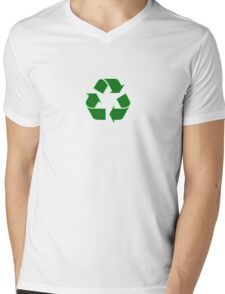 Recycling Sticker - Recycle Logo Decal Mens V-Neck T-Shirt