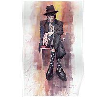 Jazz Bluesman John Lee Hooker Poster