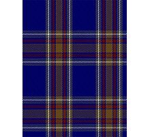 00465 Blue Rust Tartan  Photographic Print