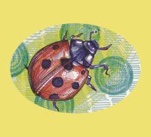 Ladybug drawing - 2015 One Piece - Short Sleeve