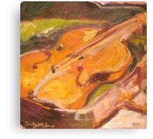 Resting Violin Canvas Print