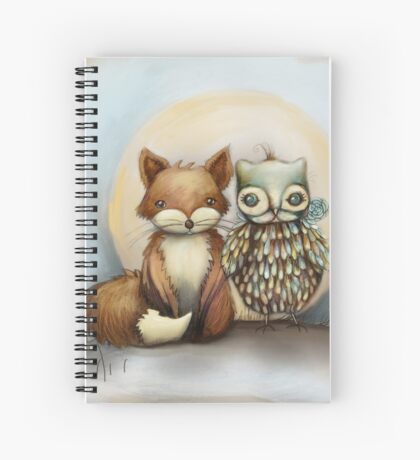 fox and owl Spiral Notebook