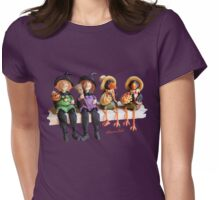 Tell Us A Happy Halloween Story! Womens Fitted T-Shirt