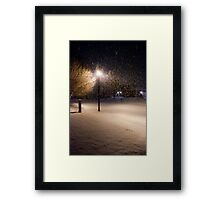 Peaceful Snowstorm Framed Print