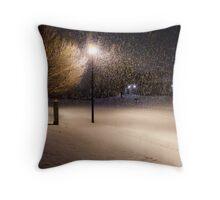 Peaceful Snowstorm Throw Pillow