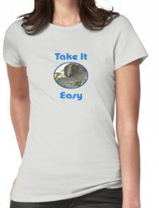 Sloth Greeting Card & Coffee Mug Womens Fitted T-Shirt
