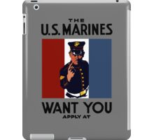 The U.S. Marines Want You iPad Case/Skin