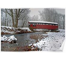 Snowy Muncy Creek Crossing Poster