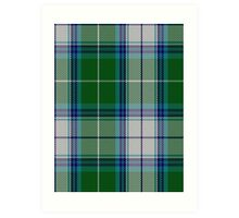 00467 The Blue Spruce Fashion Tartan  Art Print