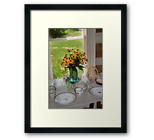 Colonial Luncheon Framed Print