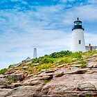 Pemaquid Point Maine Lighthouse by Joe Jennelle