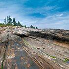 Pemaquid Point Maine Granite Striations by Joe Jennelle