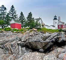 Pemaquid Point Lighthouse on The Rocks by Joe Jennelle
