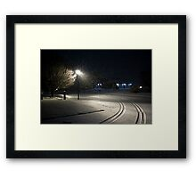Peaceful Snowstorm-Tracks Framed Print