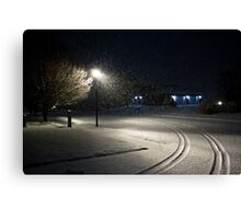 Peaceful Snowstorm-Tracks Canvas Print