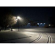 Peaceful Snowstorm-Tracks Photographic Print