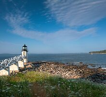 Walkway to Lighthouse by Joe Jennelle