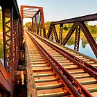 Rails Over Bridge by Joe Jennelle
