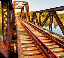 Rails Over Bridge by Joe Jennelle