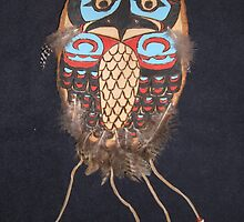 Northwest Native Influence of owl by Jennifer Ingram
