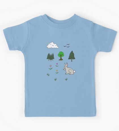 Nature Diorama Stickers  Kids Clothes