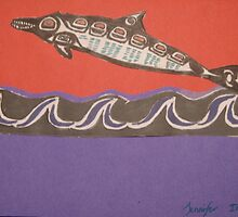 Nothwest Native influence of dolphin by Jennifer Ingram