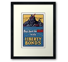 Beat Back The Hun With Liberty Bonds -- WWII Framed Print