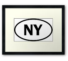 New York - NY - oval sticker and more Framed Print