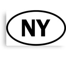 New York - NY - oval sticker and more Canvas Print
